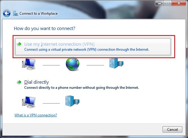Windows 7 - Network - Connect to a Workplace