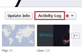 Location of activity log -link.