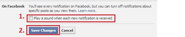 Uncheck to disable notification sound.