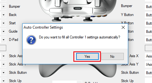 Auto Controller Settings in x360ce