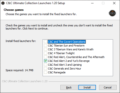 C&C Ultimate Collection Launchers 1.20 setup