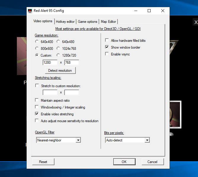 Red Alert 1 advanced config tool
