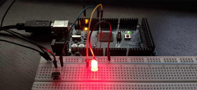 Use a push button on Arduino
